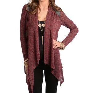 Sweaters - Burgundy Cardigan